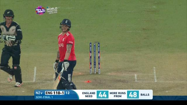 England wicket Losses v New Zealand Video ICC WT20 2016