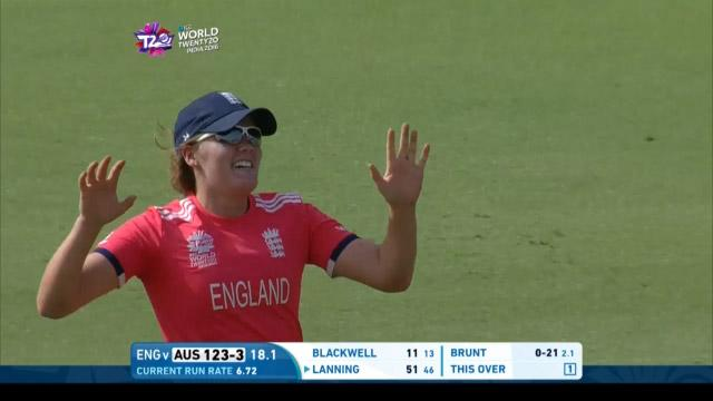 Sciver's direct hit from the boundary brings excellent run-out
