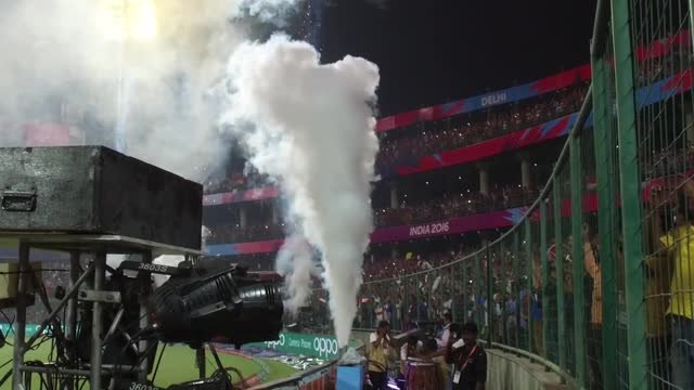Fireworks fire at end of England v New Zealand