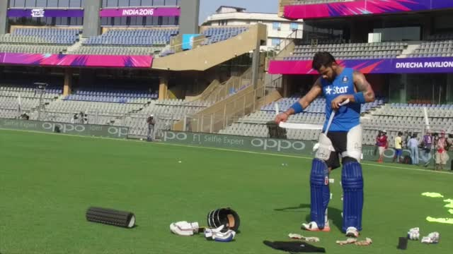 India train in Mumbai ahead of West Indies Semi-Final