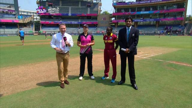 New Zealand wins Toss against West Indies Match 22 ICC Womens WT20 2016