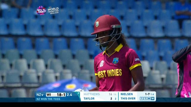 Hayley Matthews Wicket Fall WI V NZ Video ICC Womens WT20 2016