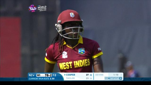 Stafanie Taylor Wicket Fall WI V NZ Video ICC Womens WT20 2016