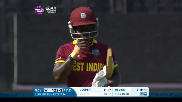 Deandra Dottin Wicket Fall WI V NZ Video ICC Womens WT20 2016