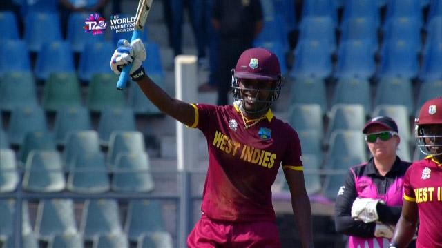 Britney Cooper Innings for West Indies V New Zealand Video ICC Womens WT20 2016