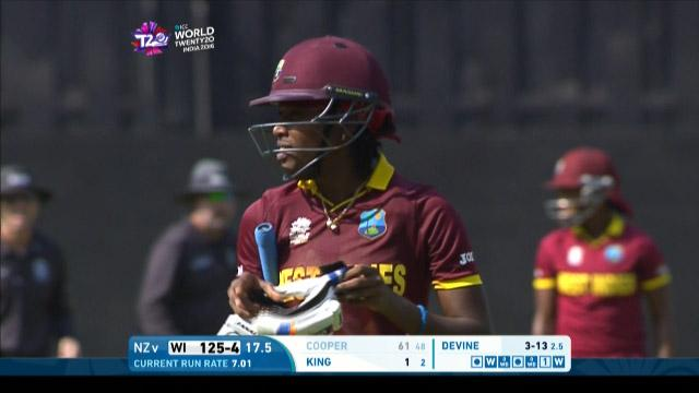 West Indies wicket Losses v New Zealand Video ICC Womens WT20 2016