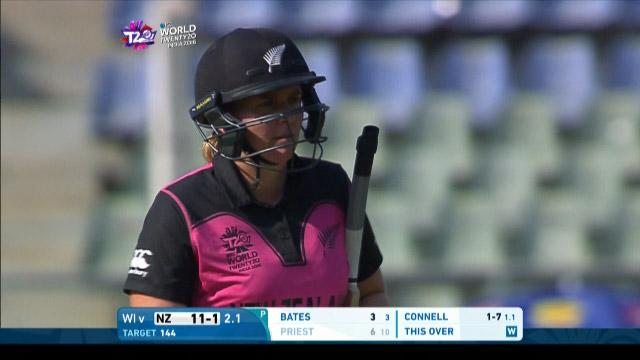 Rachel Priest Wicket Fall NZ V WI Video ICC Womens WT20 2016