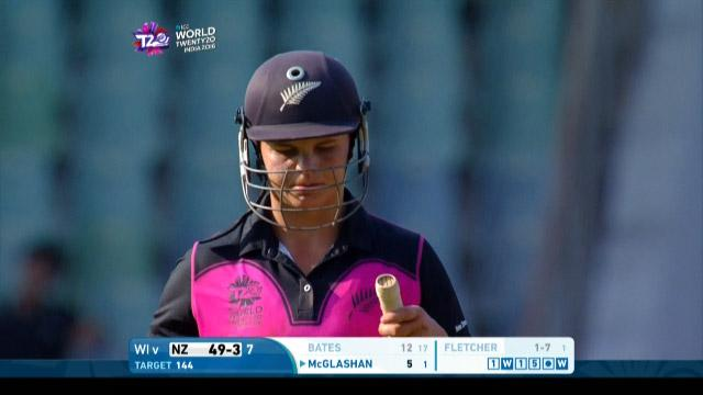 Suzie Bates Wicket Fall NZ V WI Video ICC Womens WT20 2016