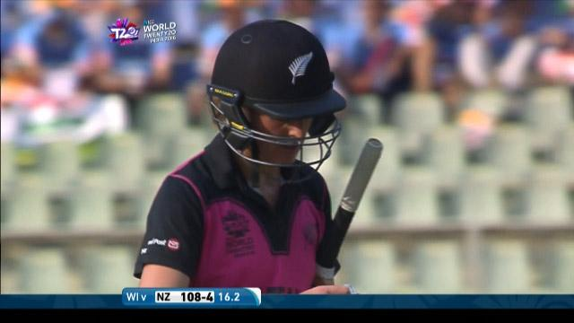 Amy Satterthwaite Wicket Fall NZ V WI Video ICC Womens WT20 2016
