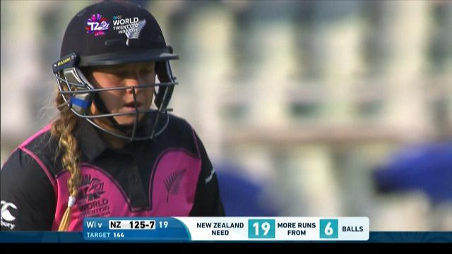 Leigh Kasperek Wicket Fall NZ V WI Video ICC Womens WT20 2016