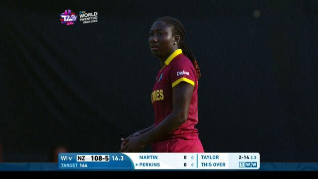 Stafanie Taylor 3-26 for NZ v WI Womens WT20 2016