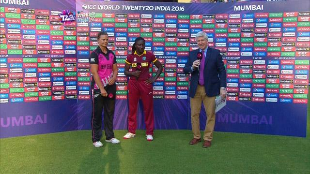 Match Presentation for NZ V WI Match 22 ICC Womens WT20 2016