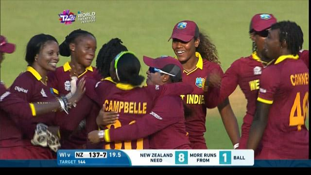 West Indies Women celebrate making history in reaching #WT20 Final