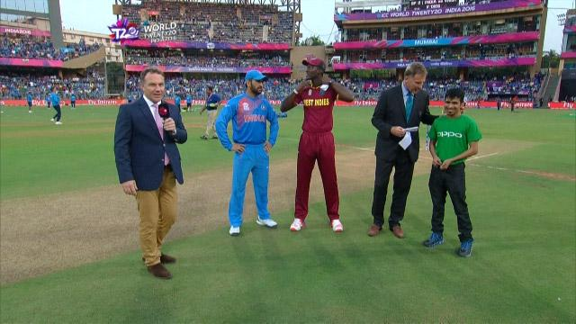 West Indies wins Toss against India Match 34 ICC WT20 2016