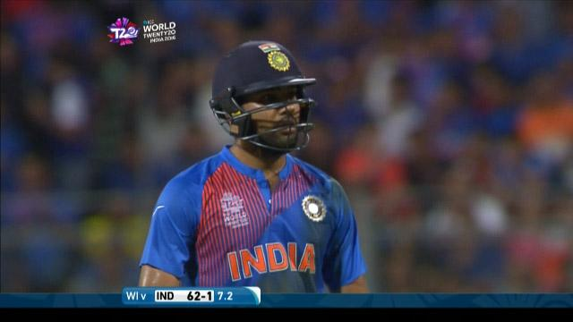 Rohit Sharma Wicket Fall IND V WI Video ICC WT20 2016