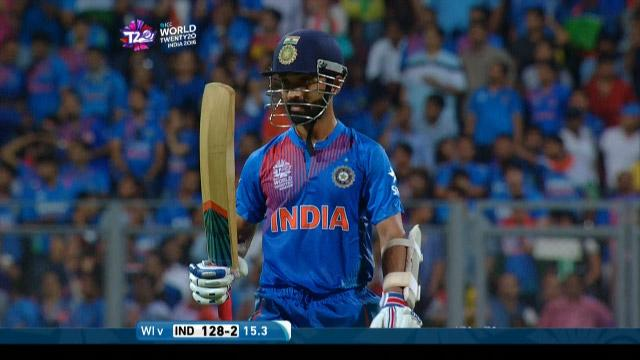 Ajinkya Rahane Wicket Fall IND V WI Video ICC WT20 2016