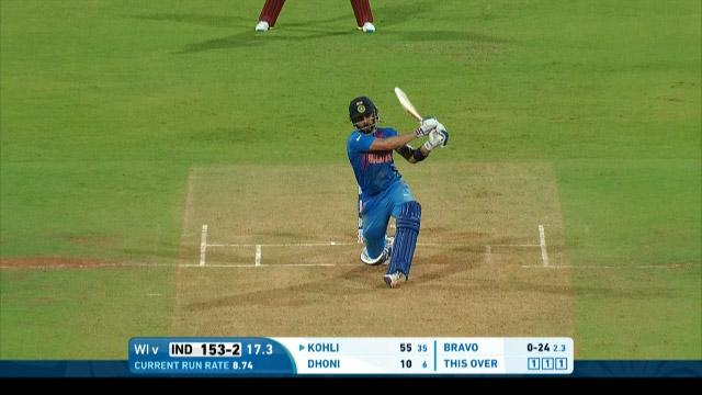 Dhoni and Kohli put on 64 off 27 balls