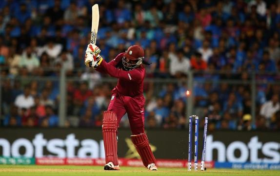 Chris Gayle's wicket, WI V Ind, 2nd semi-final