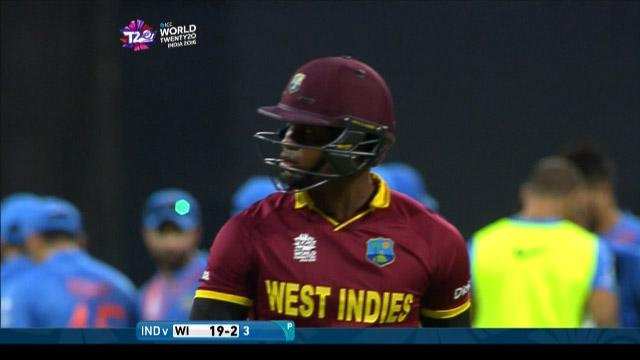 Marlon Samuels's wicket, WI v Ind, 2nd semi-final