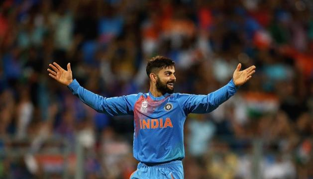 Virat Kohli takes wicket with his first ball of #WT20