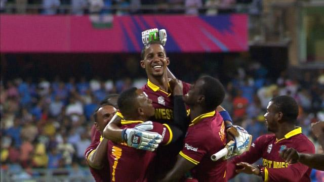 West Indies Innings winning moment and celebrations