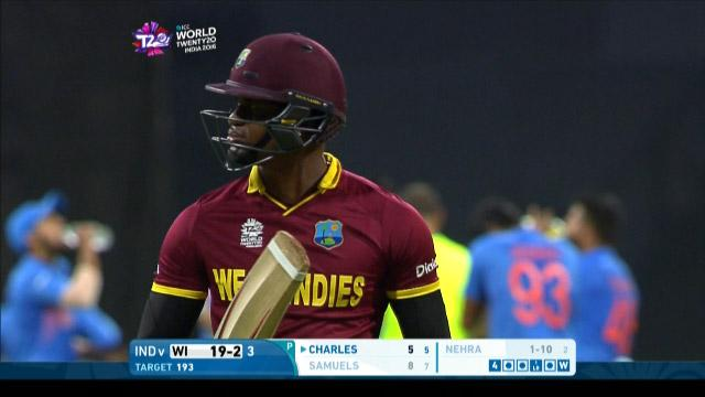 West Indies wicket Losses v India Video ICC WT20 2016