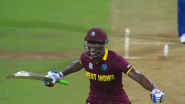 West Indies semi-final win over India final moments