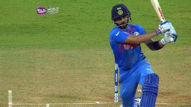 Virat Kohli Match Hero for India v West Indies ICC WT20 2016