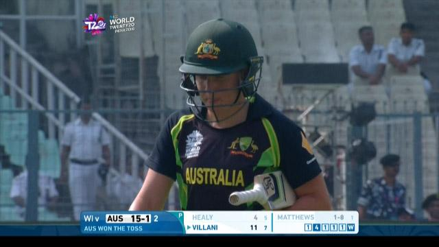 Alyssa Healy Wicket Fall AUS V WI Video ICC Womens WT20 2016