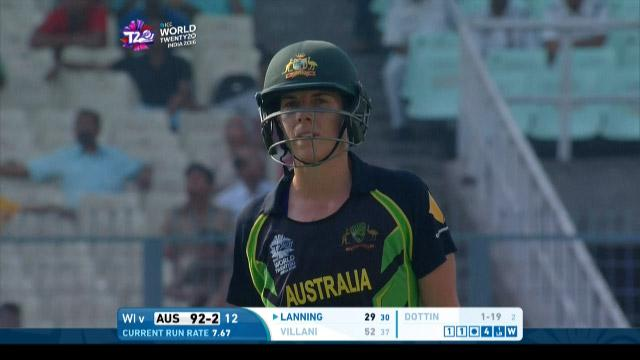 Elyse Villani Wicket Fall AUS V WI Video ICC Womens WT20 2016