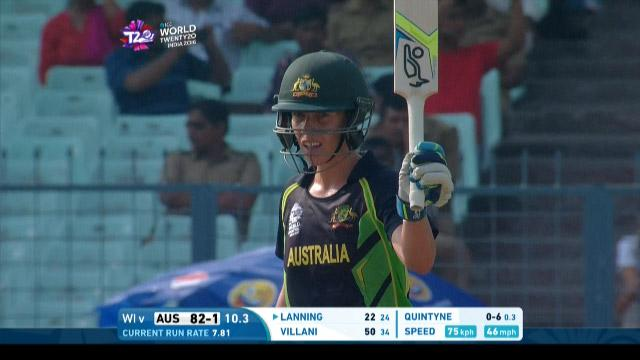 Elyse Villani Innings for Australia V West Indies Video ICC Womens WT20 2016