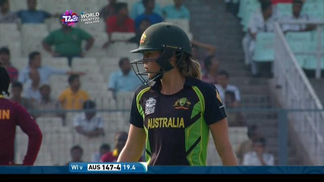Ellyse Perry Wicket Fall AUS V WI Video ICC Womens WT20 2016