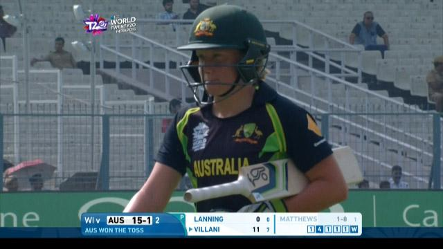 Australia wicket Losses v West Indies Video ICC Womens WT20 2016