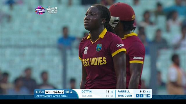 Stafanie Taylor Wicket Fall WI V AUS Video ICC Womens WT20 2016