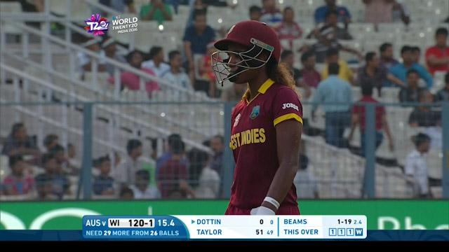 West Indies wicket Losses v Australia Video ICC Womens WT20 2016