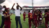 West Indies Women joined by Men's side for celebrations