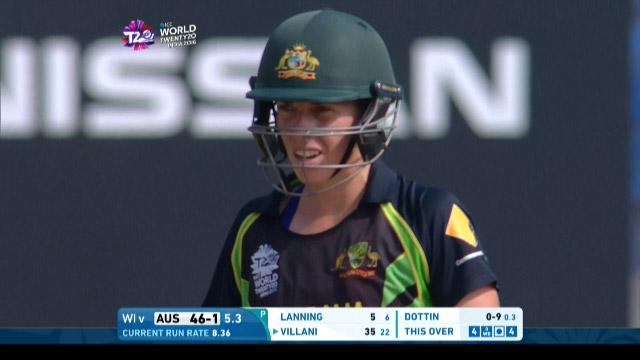Elyse Villani Match Hero for Australia v WI ICC Womens WT20 2016