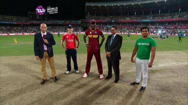 West Indies wins Toss against England Match 35 ICC WT20 2016