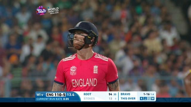 Ben Stokes is done by Bravo's slower-ball bouncer