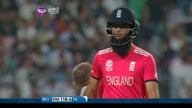 Moeen Ali Wicket Fall ENG V WI Video ICC WT20 2016