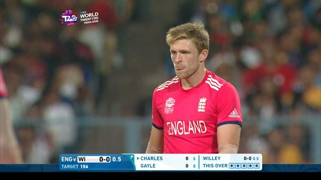 Willey misses the stumps by a coat of paint!