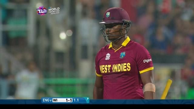 West Indies wicket Losses v England Video ICC WT20 2016