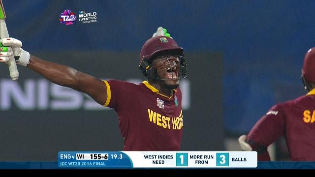 Carlos Brathwaite Innings for West Indies V England Video ICC WT20 2016