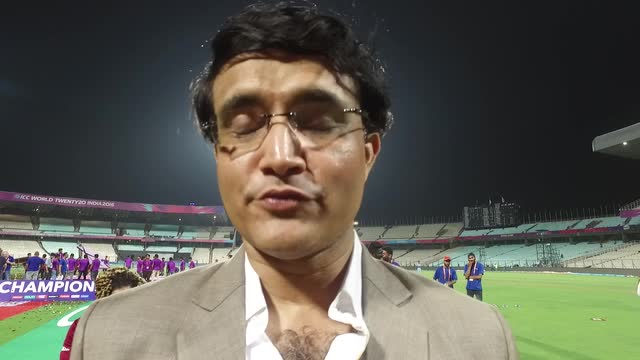 Ganguly speaks after West Indies win
