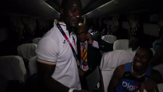 What's it like on the West Indies team bus tonight?
