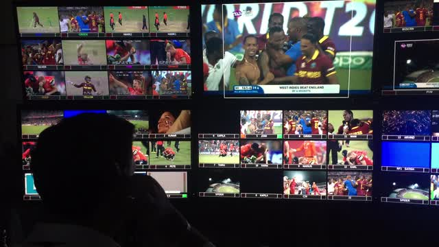 Behind the scenes of TV Control room as West Indies Triumph!