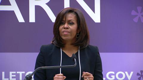 Michelle Obama Excited by World Bank 2.5 Billion Pledge for Girl's Education