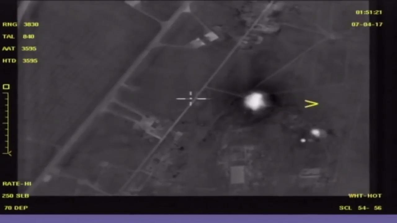 Russia releases footage of Syrian air base after US strike | New ...