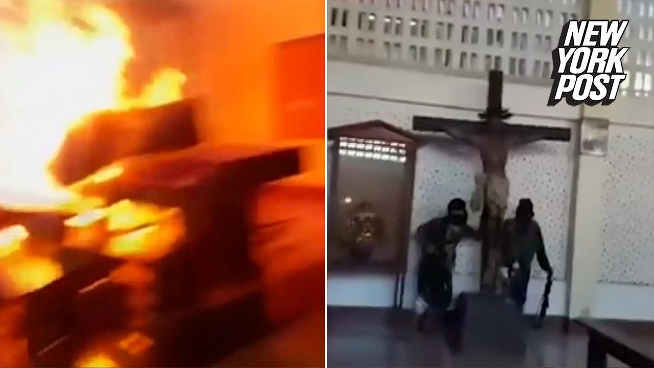 ISIS Defaces And Destroys A Catholic Church In The Philippines Video