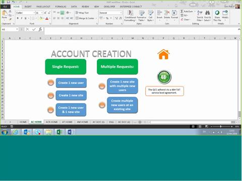 AMF Workflow - Account Creation